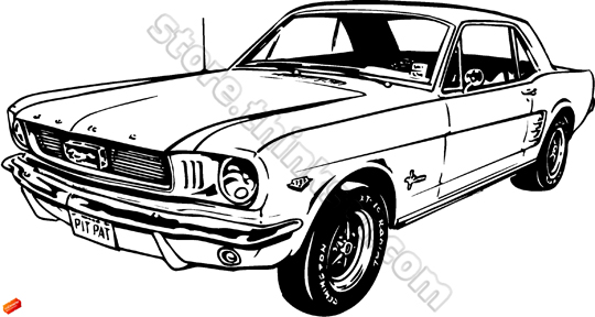 103+ 1965 Ford Mustang C... Ford Mustang Clip Art
