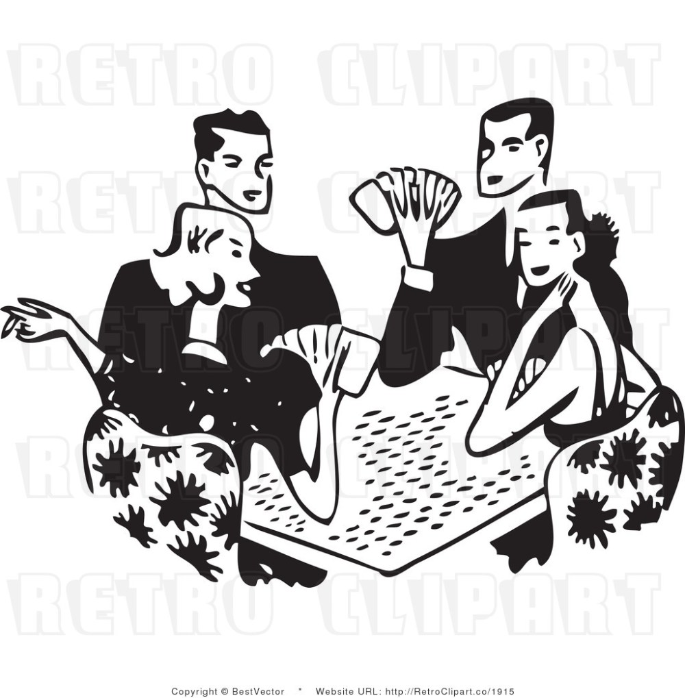 medium resolution of free black and white retro ve clip art playing cards