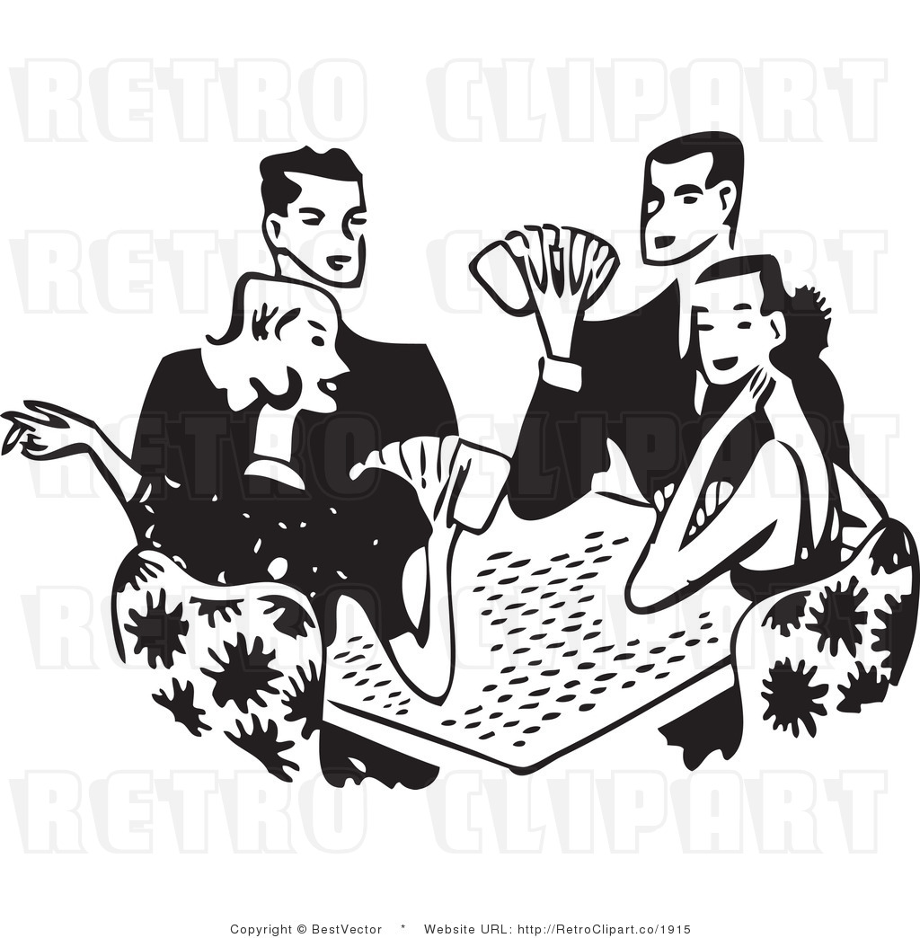 hight resolution of free black and white retro ve clip art playing cards