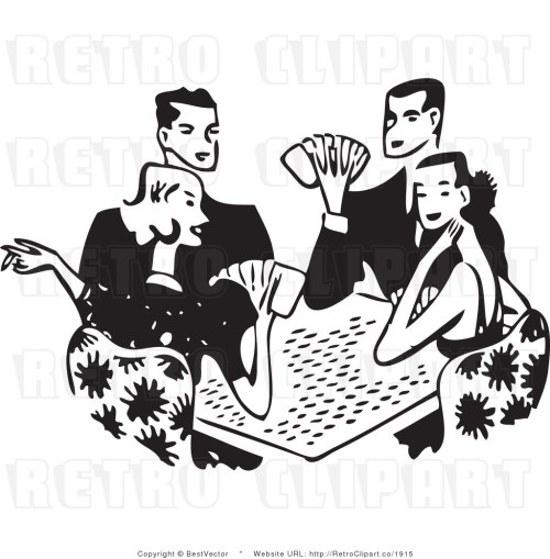 small resolution of free black and white retro ve clip art playing cards