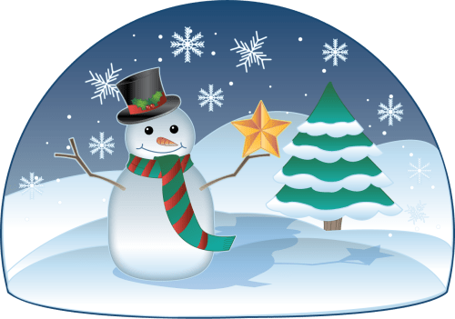 small resolution of free clip art holiday clip art christmas snowman in winter