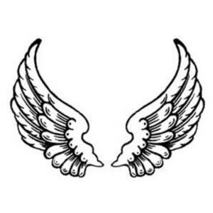 44 angel wings clipart