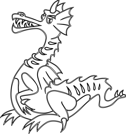 small resolution of free dragon clipart black and dragon clipart black and white