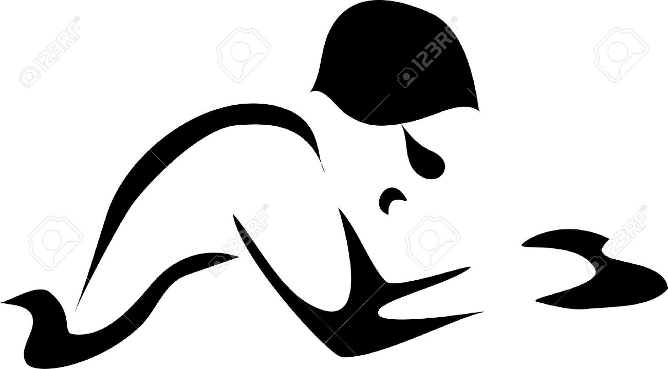hight resolution of swimmer clipart