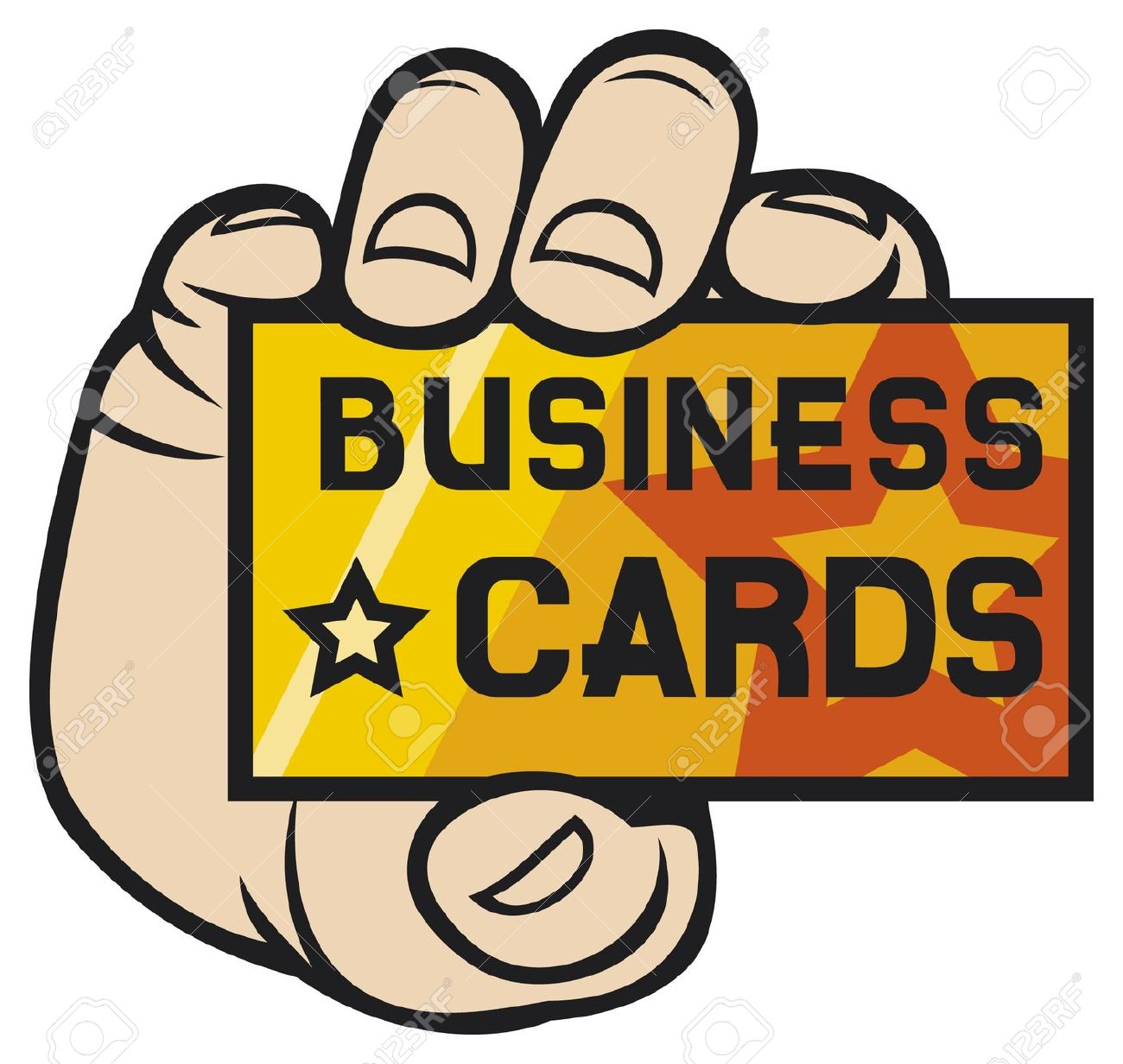 hight resolution of hand holding business card clipart for business cards