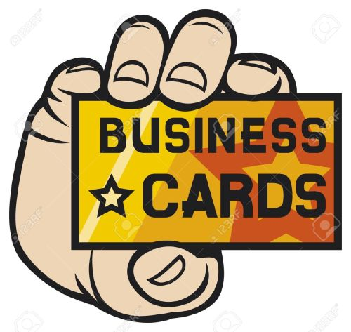 small resolution of hand holding business card clipart for business cards
