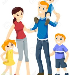 happy family with clipping happy family clipart [ 1022 x 1300 Pixel ]