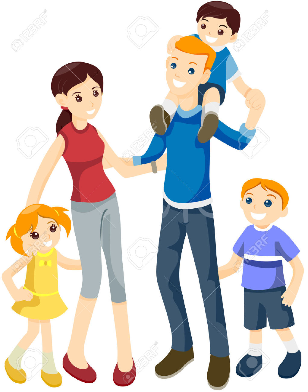 hight resolution of happy family with clipping happy family clipart