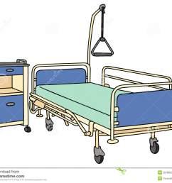 hospital bed clip art hospital bed clipart [ 1300 x 1087 Pixel ]