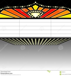 illustration of a theater mar movie marquee clipart [ 1300 x 1197 Pixel ]