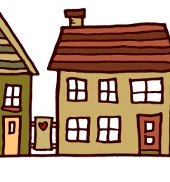 clipart images for row of houses clipart [ 1800 x 585 Pixel ]