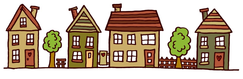 medium resolution of clipart images for row of houses clipart