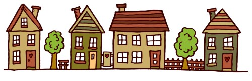 small resolution of clipart images for row of houses clipart