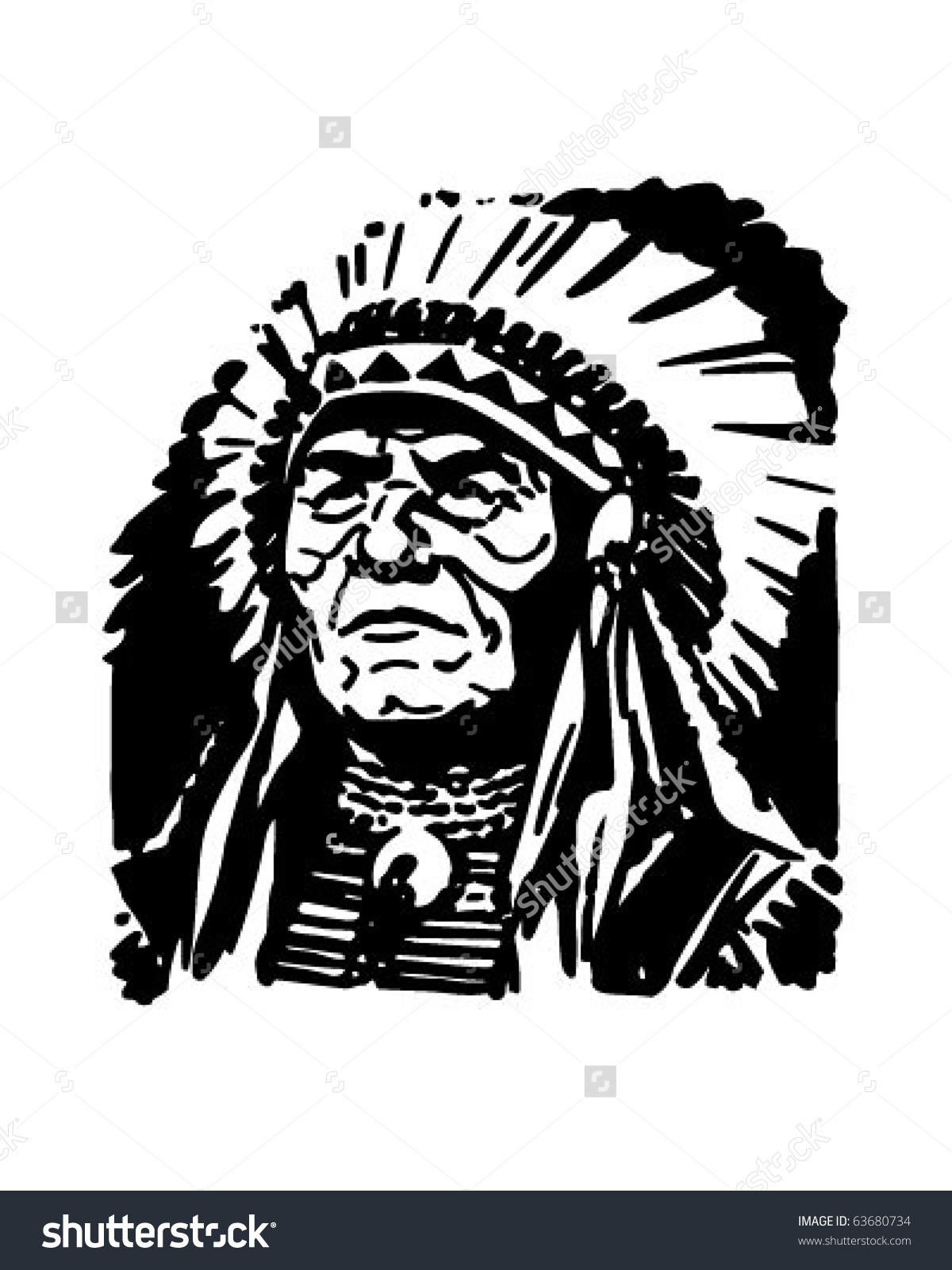 hight resolution of indian chief retro clipart indian chief clipart