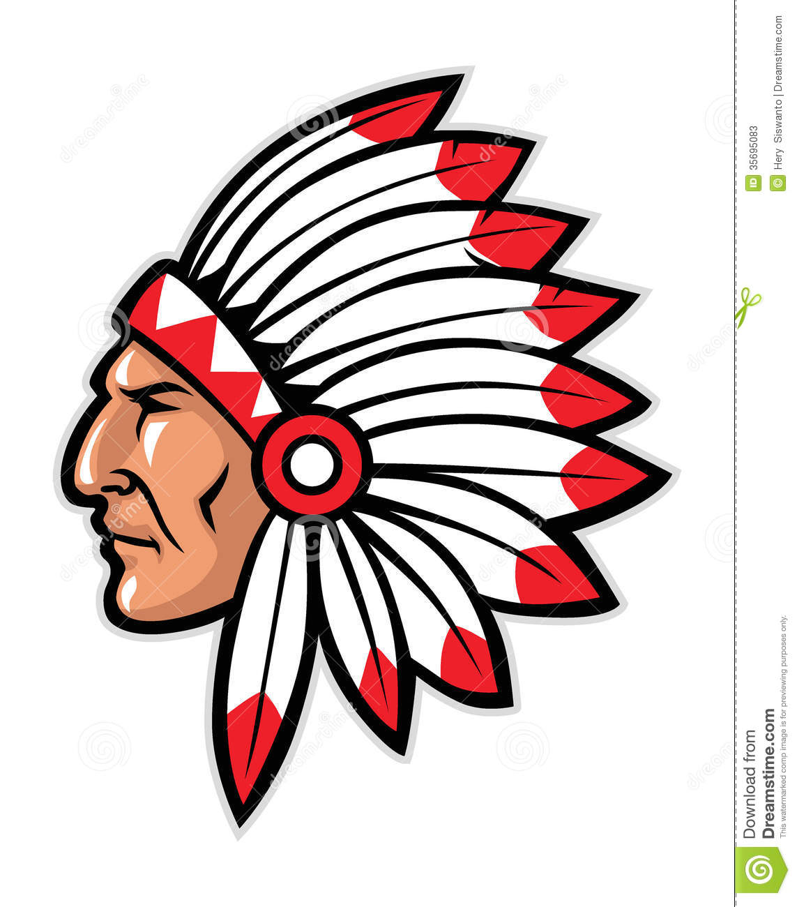 hight resolution of indian head mascot