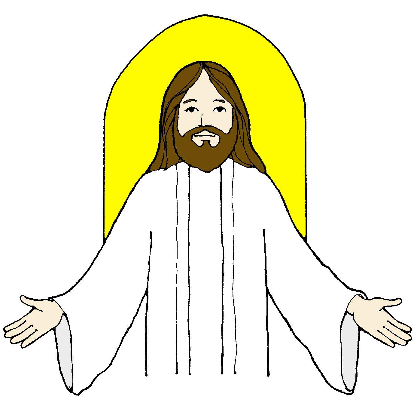 hight resolution of jesus clip art