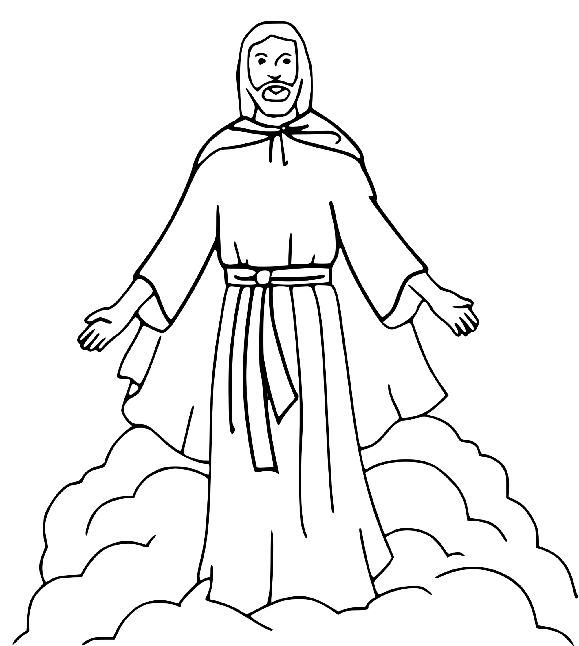 hight resolution of jesus coloring book