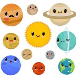 kawaii planets clipart cute planets clip art [ 1500 x 1500 Pixel ]