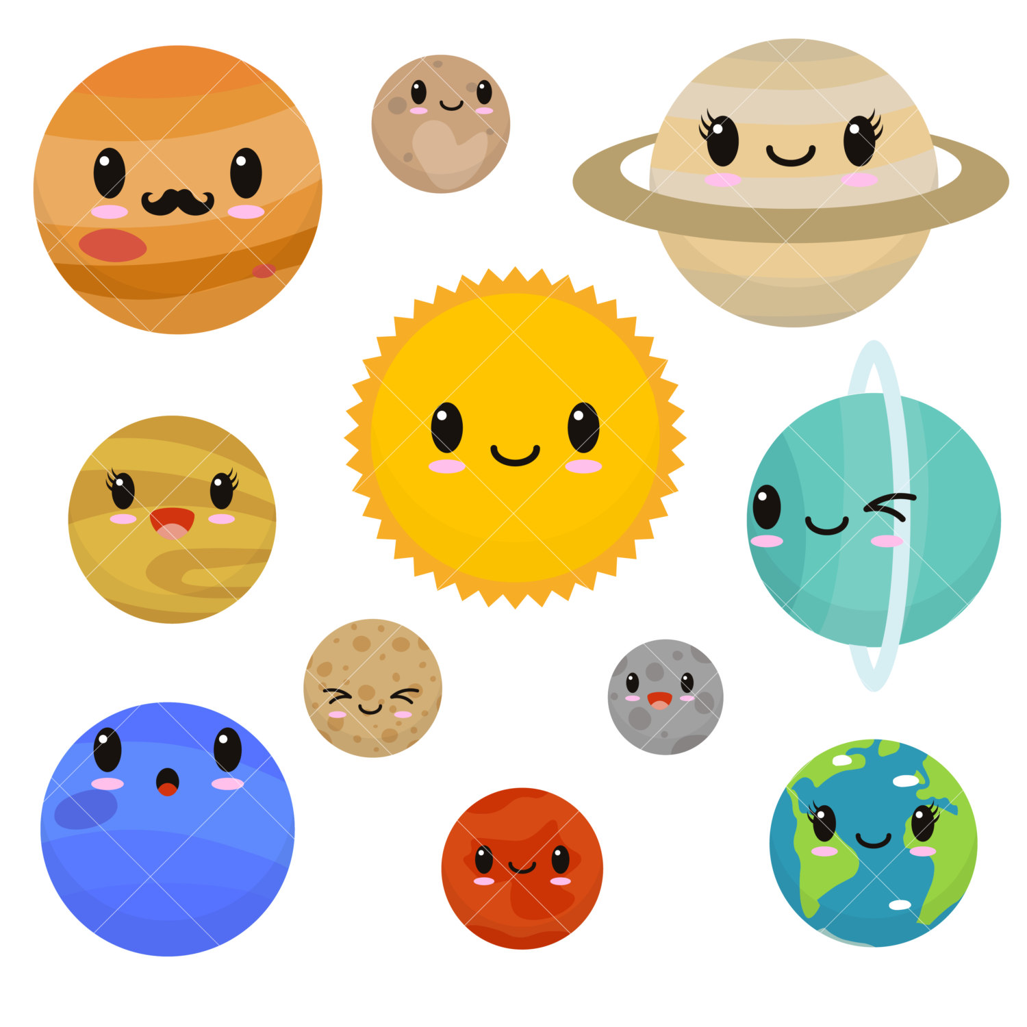 hight resolution of kawaii planets clipart cute planets clip art