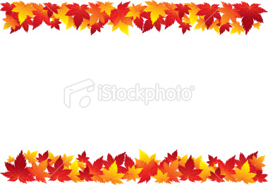 fall leaves border clip art &