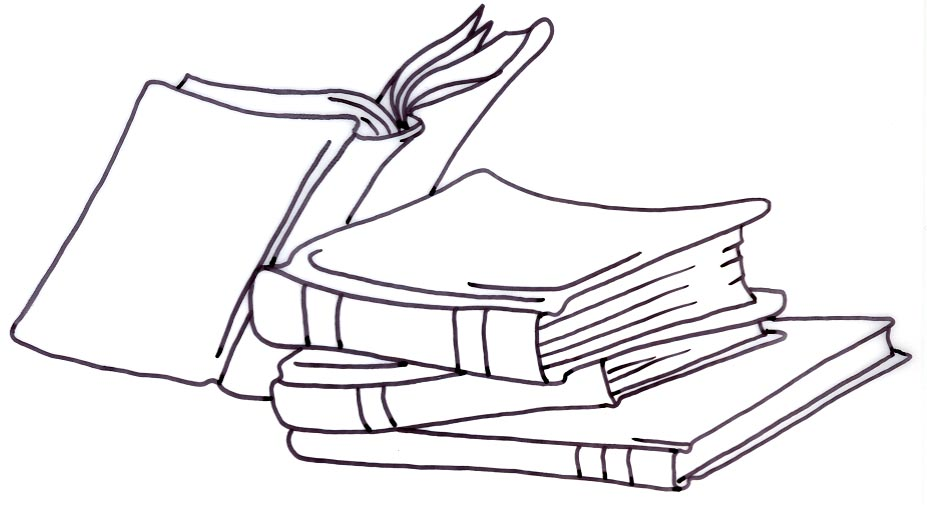 Books Clipart Black And White & Look At Clip Art Images