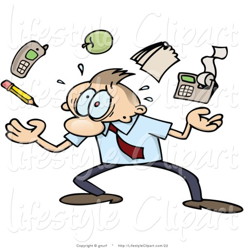 small resolution of lifestyle vector clipart of a stressed clipart