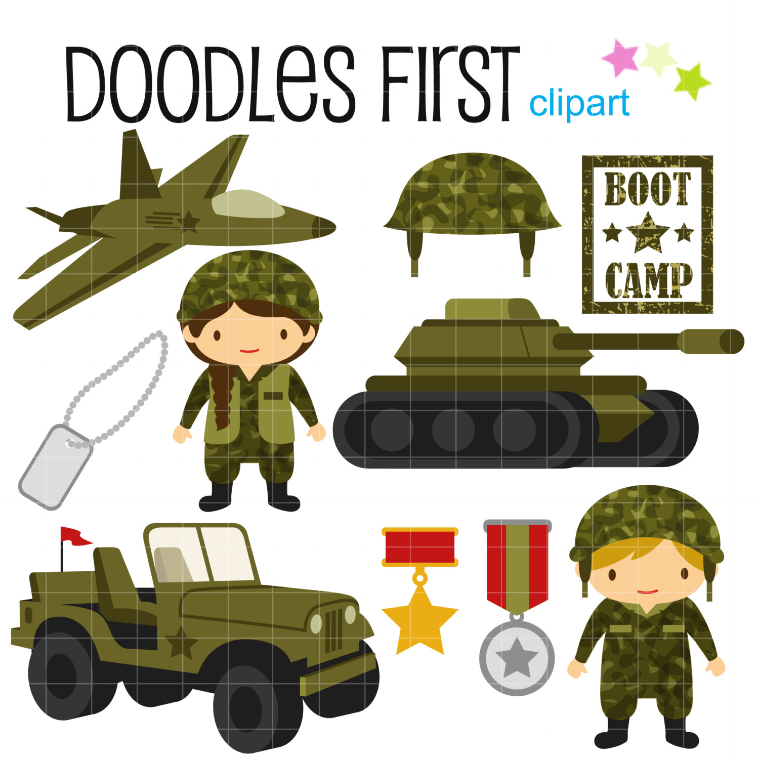 hight resolution of little army cute military dig military clipart