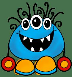 monster clip art cartoon free free monster clipart [ 1288 x 1334 Pixel ]