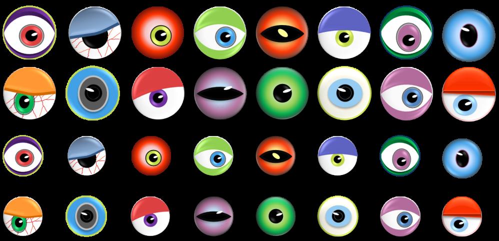medium resolution of monster eye ball clip art