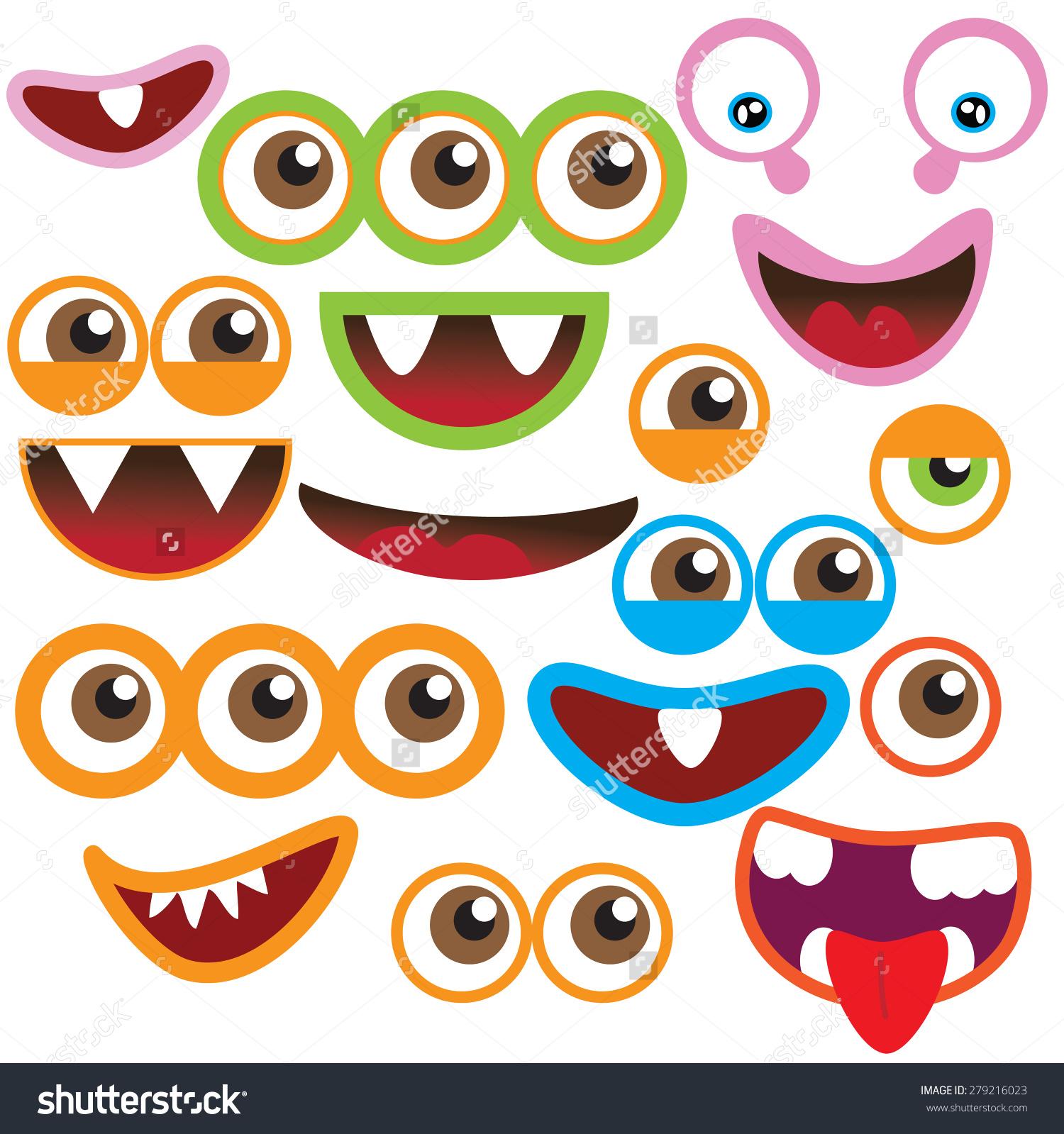 hight resolution of monster eyes clipart