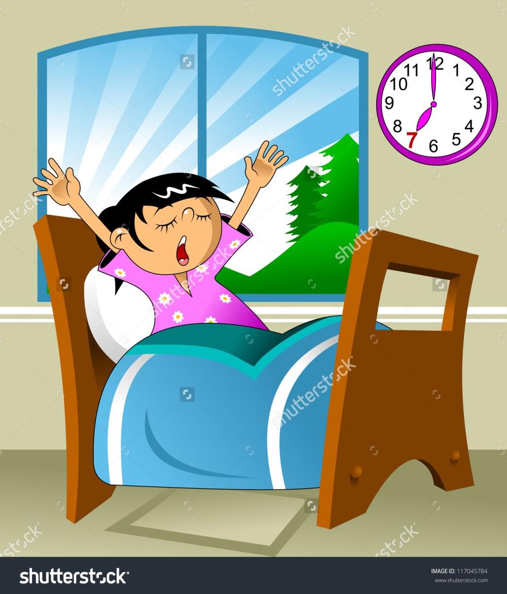 medium resolution of morning girl wake up clipart girl waking up clipart