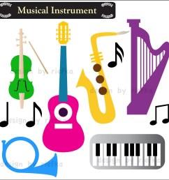 musical clip art musical instruments clipart [ 1500 x 1500 Pixel ]