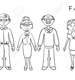 my family clipart black and family clipart black and white [ 1300 x 761 Pixel ]