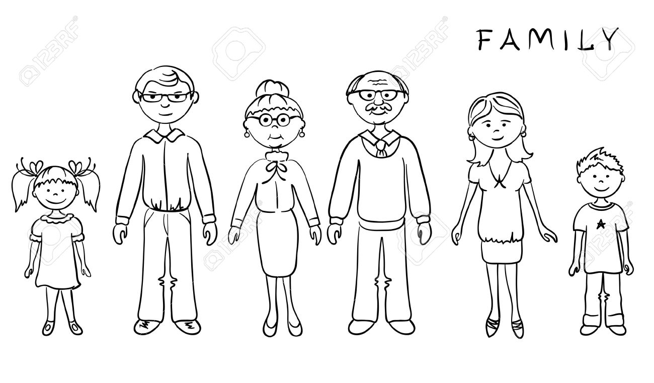 hight resolution of my family clipart black and family clipart black and white