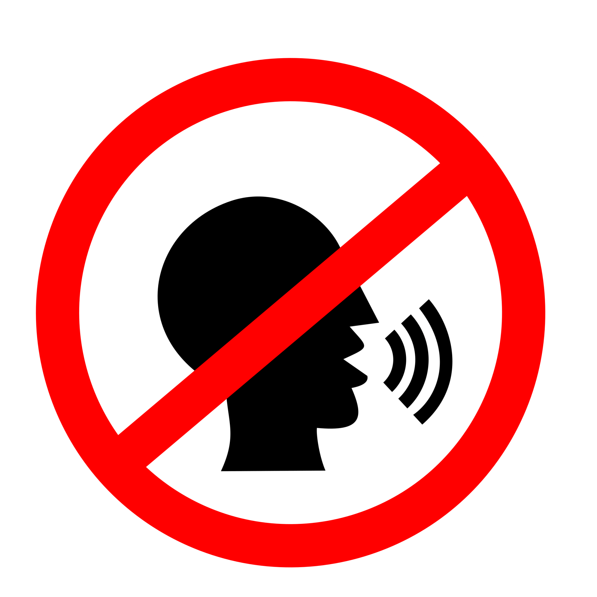 hight resolution of no talking clipart