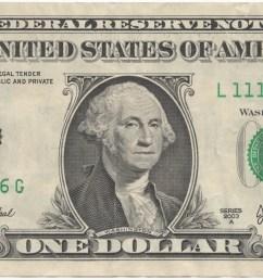one dollar bill clipart  [ 1880 x 821 Pixel ]