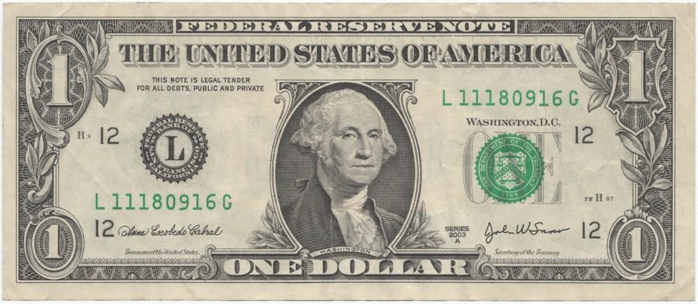 medium resolution of one dollar bill clipart
