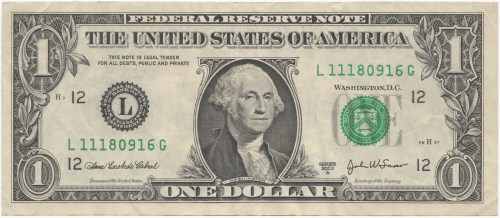 small resolution of one dollar bill clipart
