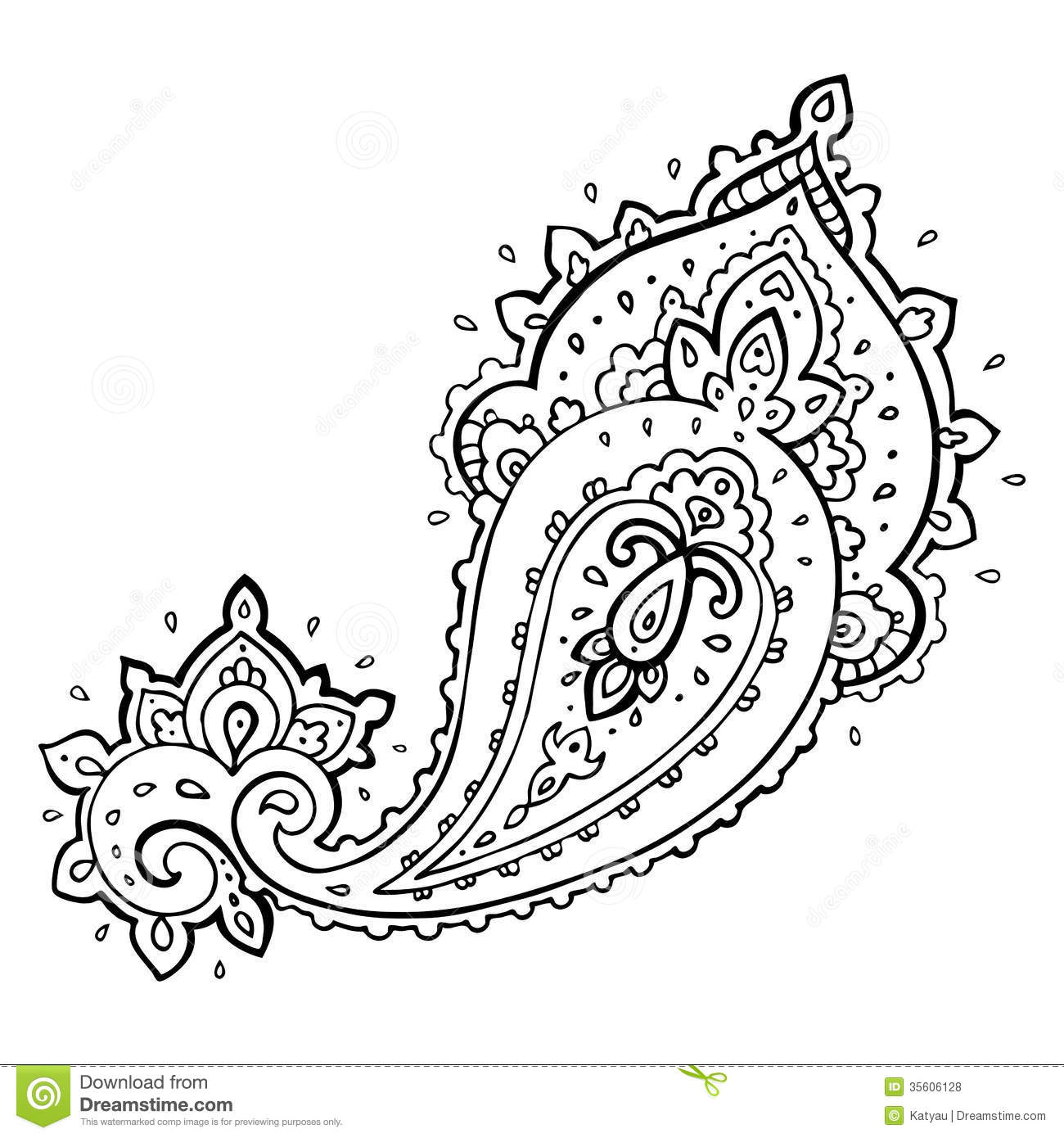 Paisley Clip Art Amp Look At Clip Art Images
