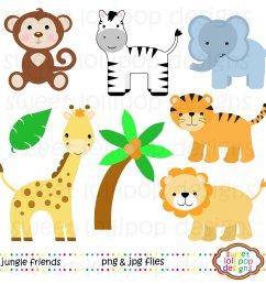 paper size zoo border clipart safari animal clipart [ 1500 x 1500 Pixel ]
