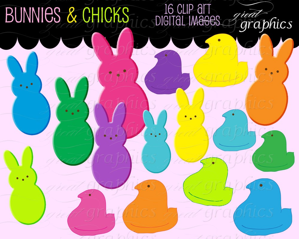 hight resolution of peeps clipart