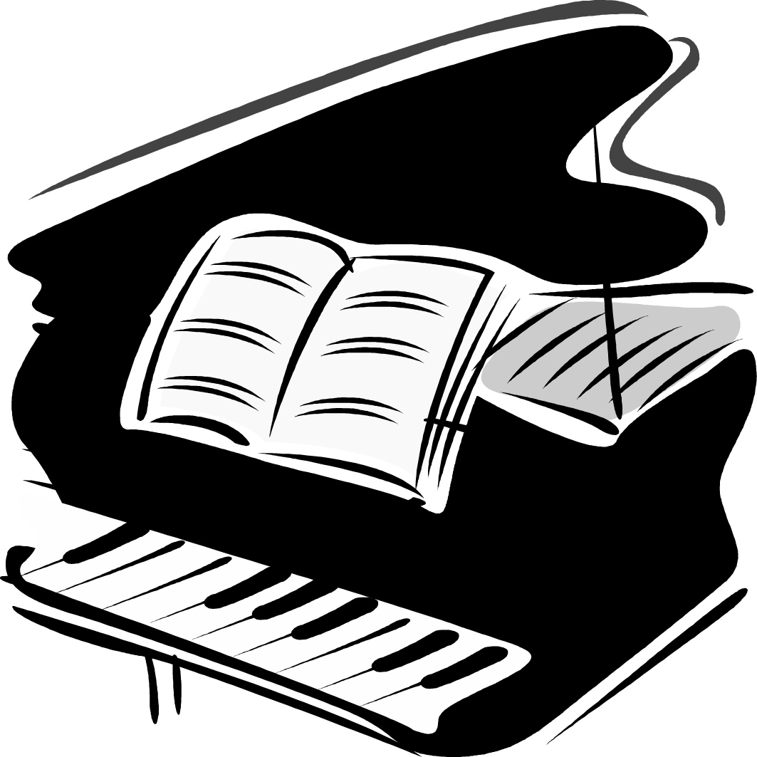 hight resolution of piano clip art