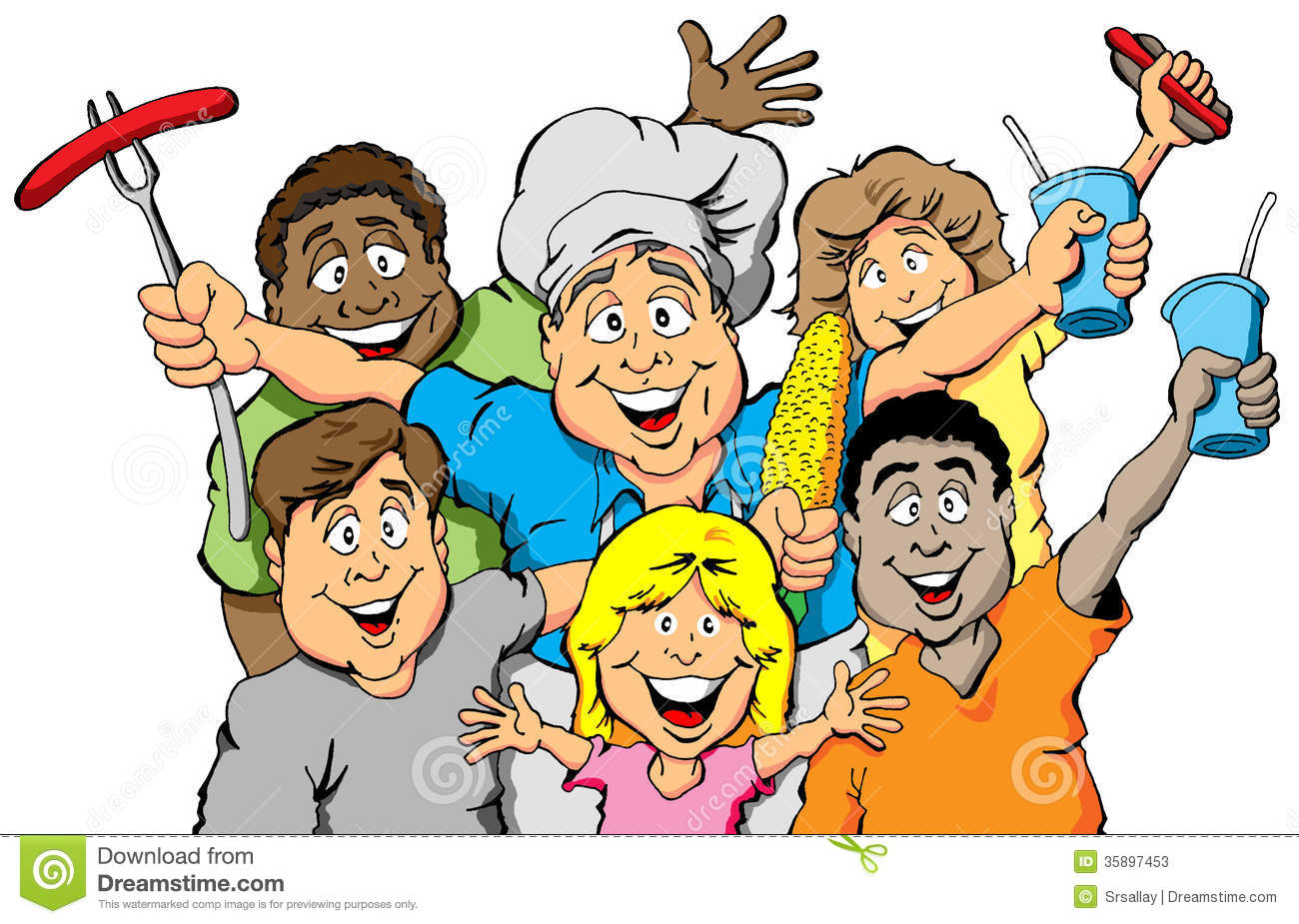 hight resolution of picnic party invitation stock family picnic clipart