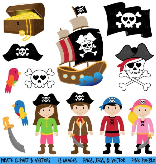 small resolution of pirate clipart clip art and vectors commercial and by pinkpueblo