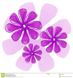 purple flowers clip art [ 1300 x 1390 Pixel ]