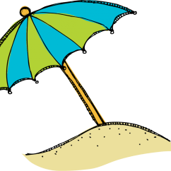 Beach Chair And Umbrella Clipart Waterproof Cushions 38 Clip On Clipartlook Red