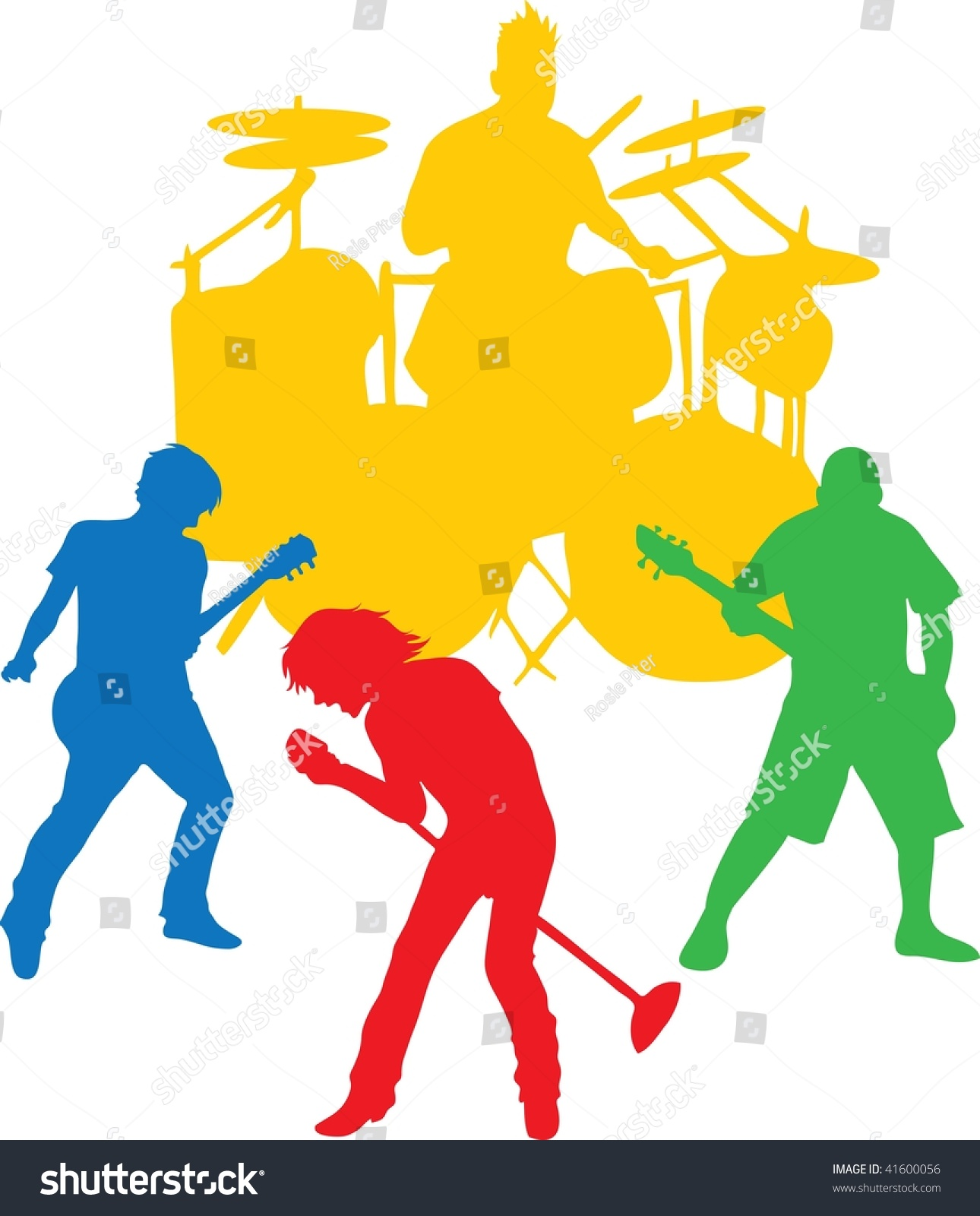 hight resolution of clip art illustration of a ro rock band clipart