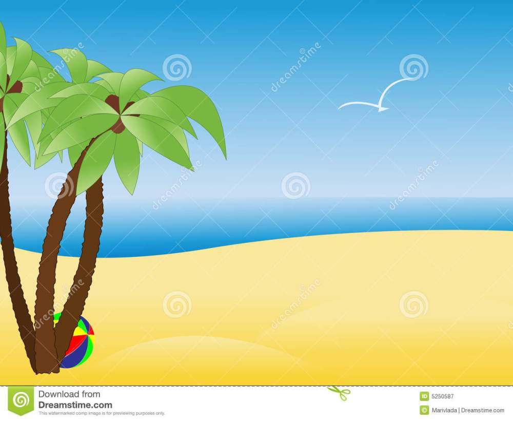 medium resolution of scene with empty tropical beach palm trees royalty free stock photography