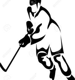 hockey player clipart [ 1091 x 1300 Pixel ]