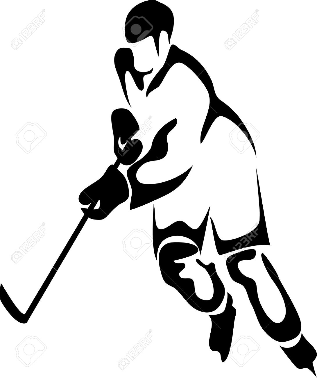 hight resolution of hockey player clipart